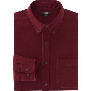 Uniqlo Maroon/Burgundy Corduroy Shirt